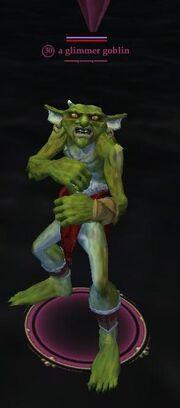 A glimmer goblin (Ruins of Varsoon)