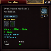 Ever Frozen Medium's Medallion