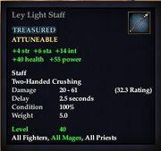 Ley Light Staff