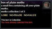 A box of plain moths