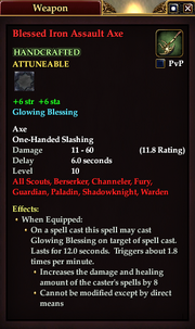 Blessed Iron Assault Axe