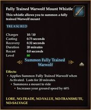 Fully Trained Warwolf Mount Whistle