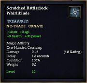 Scratched Battleclock Whirliblade