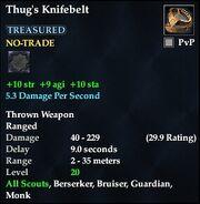 Thug's Knifebelt