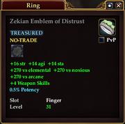 Zekian Emblem of Distrust