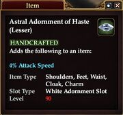 Astral Adornment of Haste (Lesser)