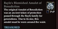 Bayle's Blemished Amulet of Benediction