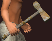 Imbued Iron Battle Hammer (Equipped)