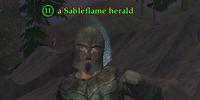 A Sableflame herald