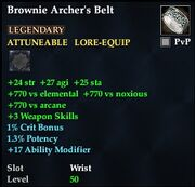 Brownie Archer's Belt