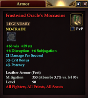 Frostwind Oracle's Moccasins