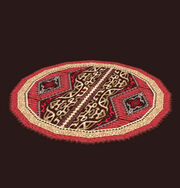 Large Circular High Keep Rug Placed