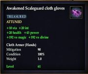 Awakened Scaleguard cloth gloves