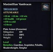 Maximillian Vambraces