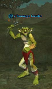 A Runnyeye brawler (Enchanted Lands)