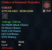 Choker of Kromzek Prejudice