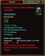 Outrider's Elven Chain Helmet of Stealth