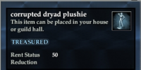 Corrupted dryad plushie