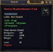 Novice Shadowbinder's Coat