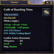 Cuffs of Reaching Vines