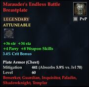 Marauder's Endless Battle Breastplate
