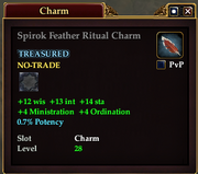 Spiroc Feather Ritual Charm