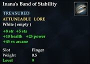 Inana's Band of Stability