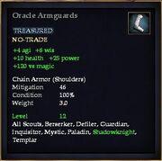 Oracle Armguards