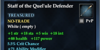 Staff of the Quel'ule Defender