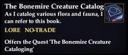 The Bonemire Creature Catalog