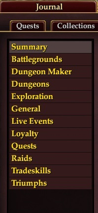 Achievement Categories