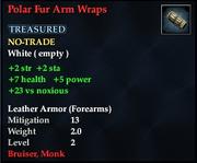 Polar Fur Arm Wraps