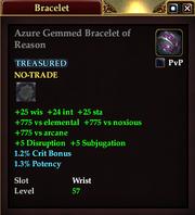 Azure Gemmed Bracelet of Reason