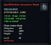 Quellithulian Assassin's Boots