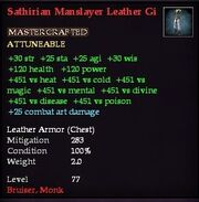 Sathirian Manslayer Leather Gi