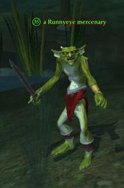 A Runnyeye mercenary (Enchanted Lands)