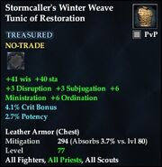 Stormcaller's Winter Weave Tunic of Restoration