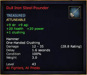 Dull Iron Steel Pounder