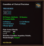 Gauntlets of Clerical Precision