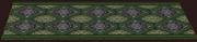 Diamond-weave Verdant Dining Rug (Placed)