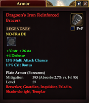 Dragoon's Iron Reinforced Bracers