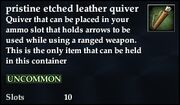 Pristine etched leather quiver