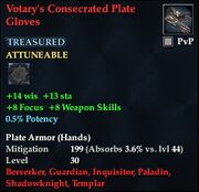 Votary's Consecrated Plate Gloves
