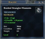 Braided Strangler Filaments