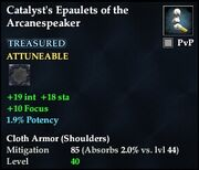 Catalyst's Epaulets of the Arcanespeaker