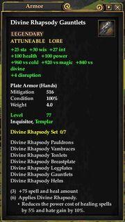 Divine Rhapsody Gauntlets