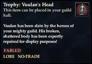 Trophy Vuulan's Head