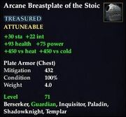 Arcane Breastplate of the Stoic
