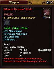 Ethereal Krakens' Blade