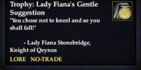 Trophy: Lady Fiana's Gentle Suggestion